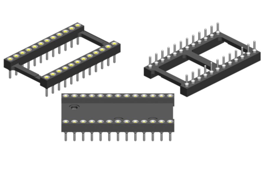 DIP-Adapter IC-Sockel-Adapter DIP-14 vergoldete Kontakte Hersteller:Fischer